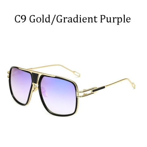 BBS Luxury Driving Sunglasses BIG Frame Sunglasses Bigboystores Gold/ Gradient Purpal