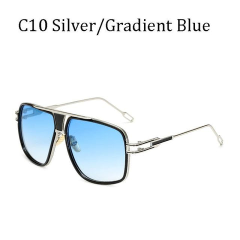 BBS Luxury Driving Sunglasses BIG Frame Sunglasses Bigboystores Silver/Gradient Blue