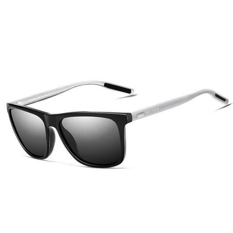 BBS Unisex Retro Aluminum+TR90 Sunglasses Polarized Lens Sunglasses Bigboystores black silver gray China