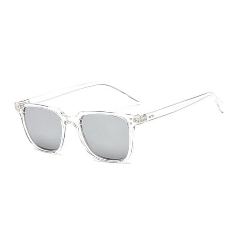 Luxury Aviation Square Sunglass Sunglasses Bigboystores White