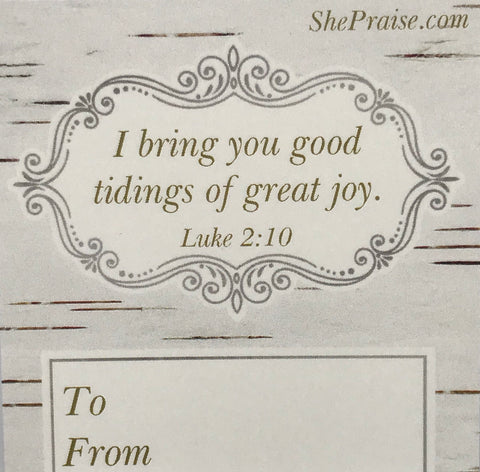 CHRISTmas Gift Tags with Bible Verses