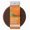 "8"" Chenille Woven Trivets - Set of 3 - Brown"