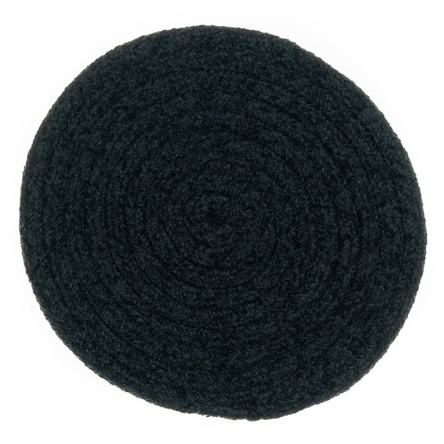 "8"" Chenille Woven Trivets - Set of 3 - Black"