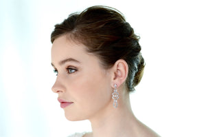 Earrings | Short Drop (WE730) - Bridal Brilliance