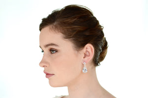 Earrings | Short Drop (WE237) - Bridal Brilliance