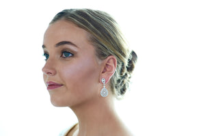 Earrings | Long Drop (WE60) - Bridal Brilliance