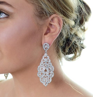 Earrings | Long Drop (WE304) - Bridal Brilliance