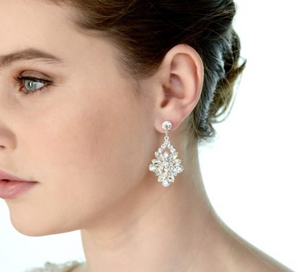 Earrings | Short Drop (E399SC) - Bridal Brilliance