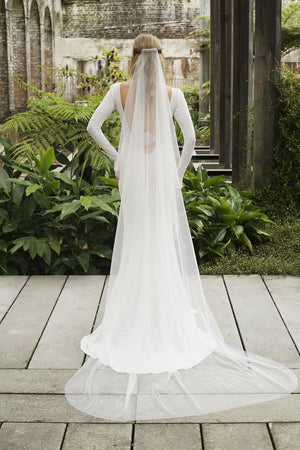 Chapel Length | 1 Layer 7-901-CT - Bridal Brilliance