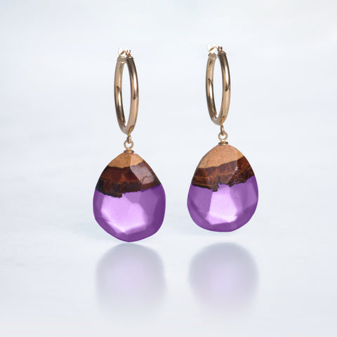 PURPLE MAGIC HOOP EARRINGS