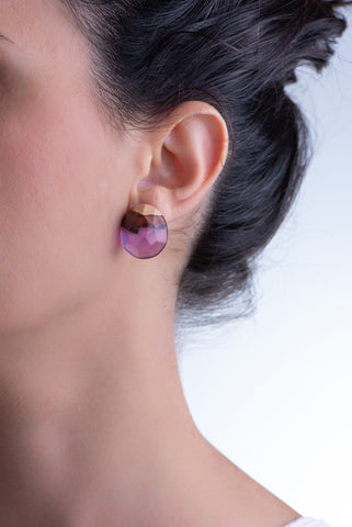 PURPLE ROCKS EARRINGS