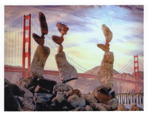 Rock Sculpture at Golden Gate Bridge