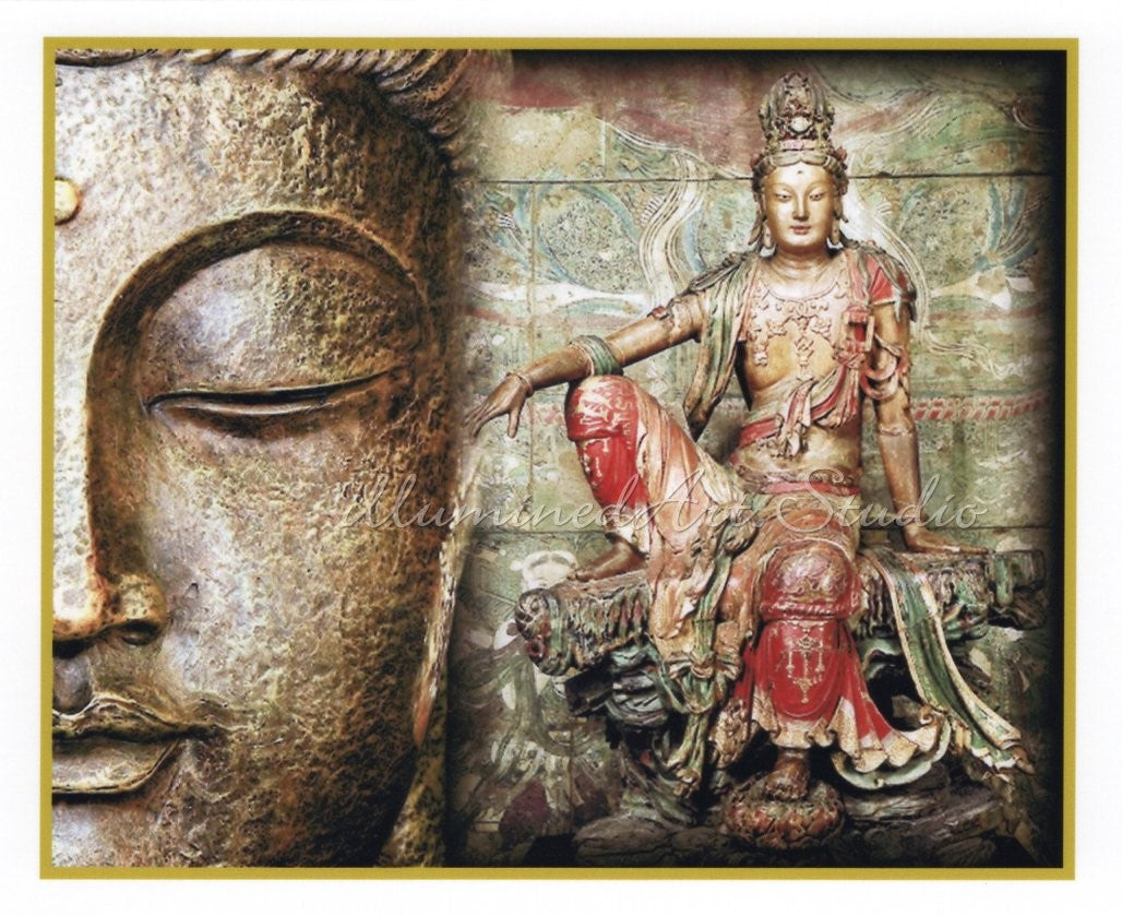 Buddha With Kuan Yin in Lordly Pose