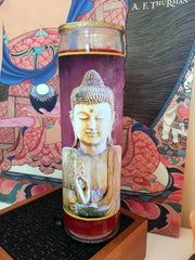 Buddha-Incense Devotional Candle