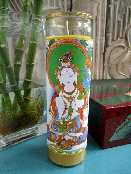 Goddess White Tara Candle