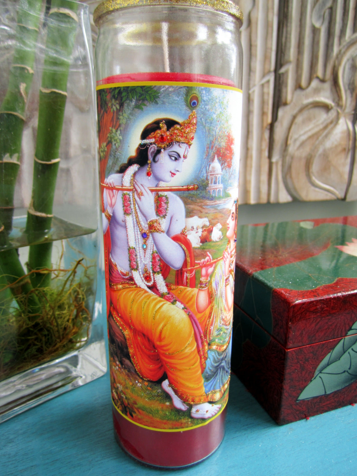 Krishna And Radha Candle