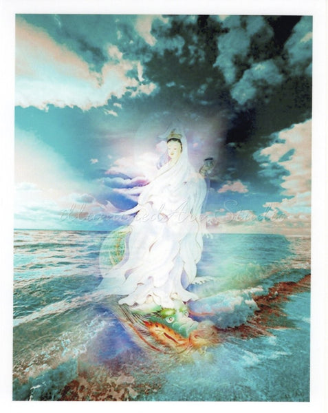 Kuan Yin In Turquoise Waters