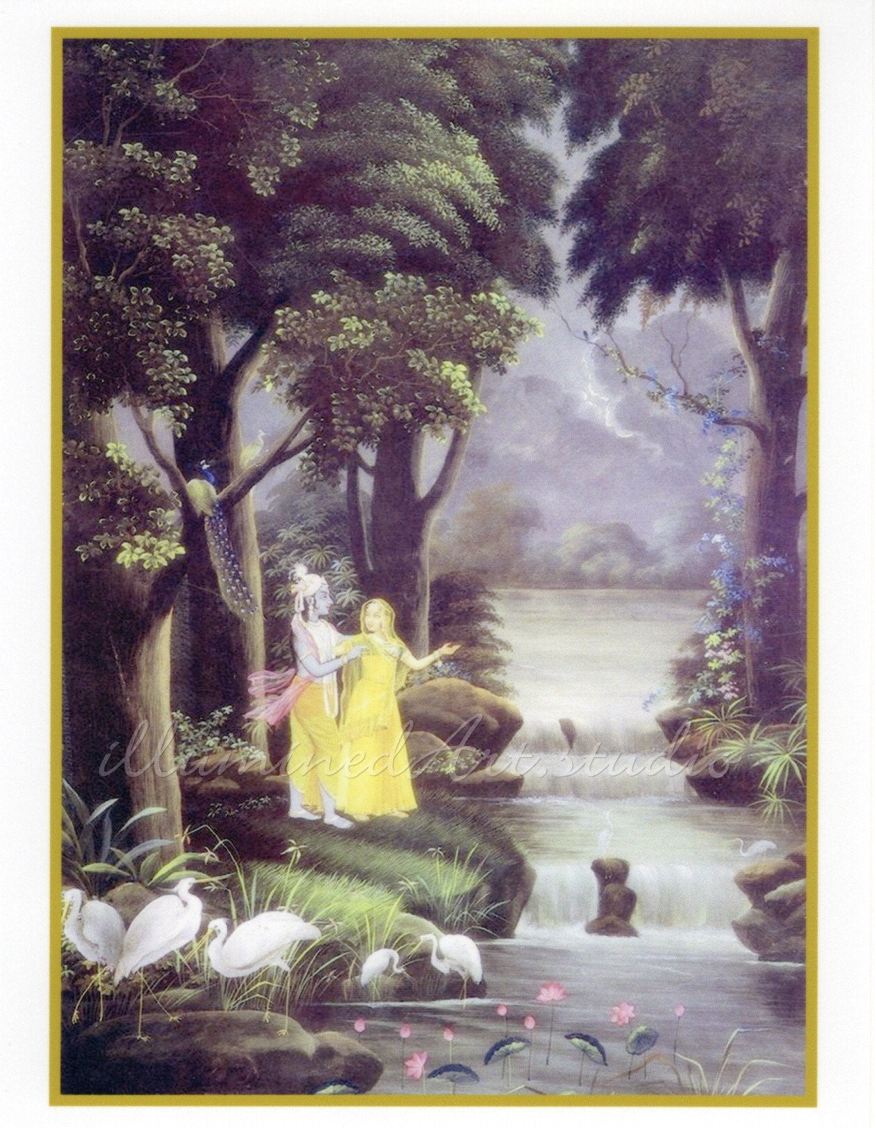 Krishna With Radha In The Forest