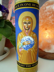 Peace Mary Candle