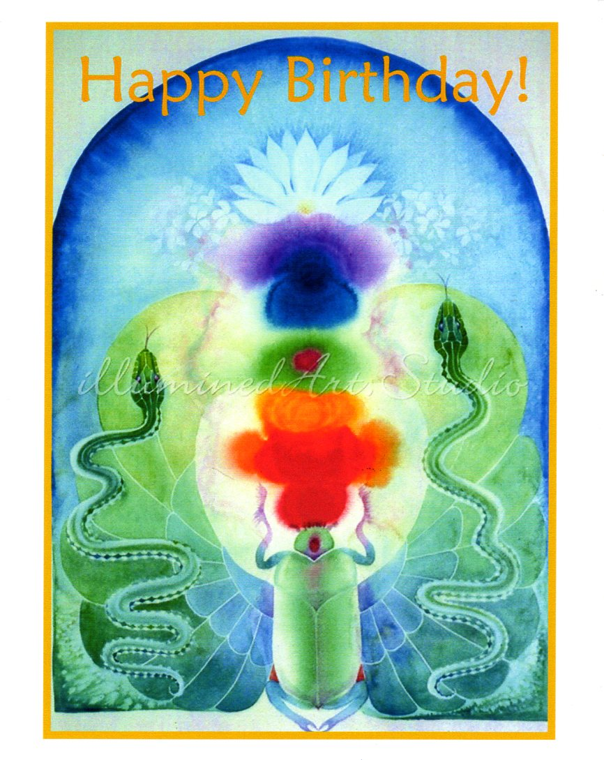 """Chakras Happy Birthday"" Card"