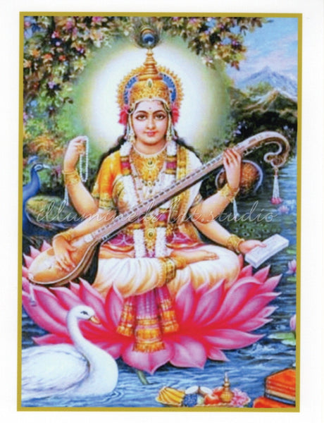 Saraswati On Lotus