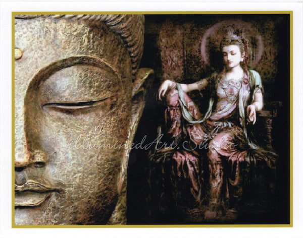 Buddha With Kuan Yin In Royal Ease