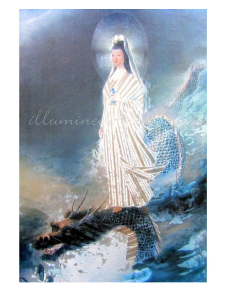 Kuan Yin Riding The Dragon
