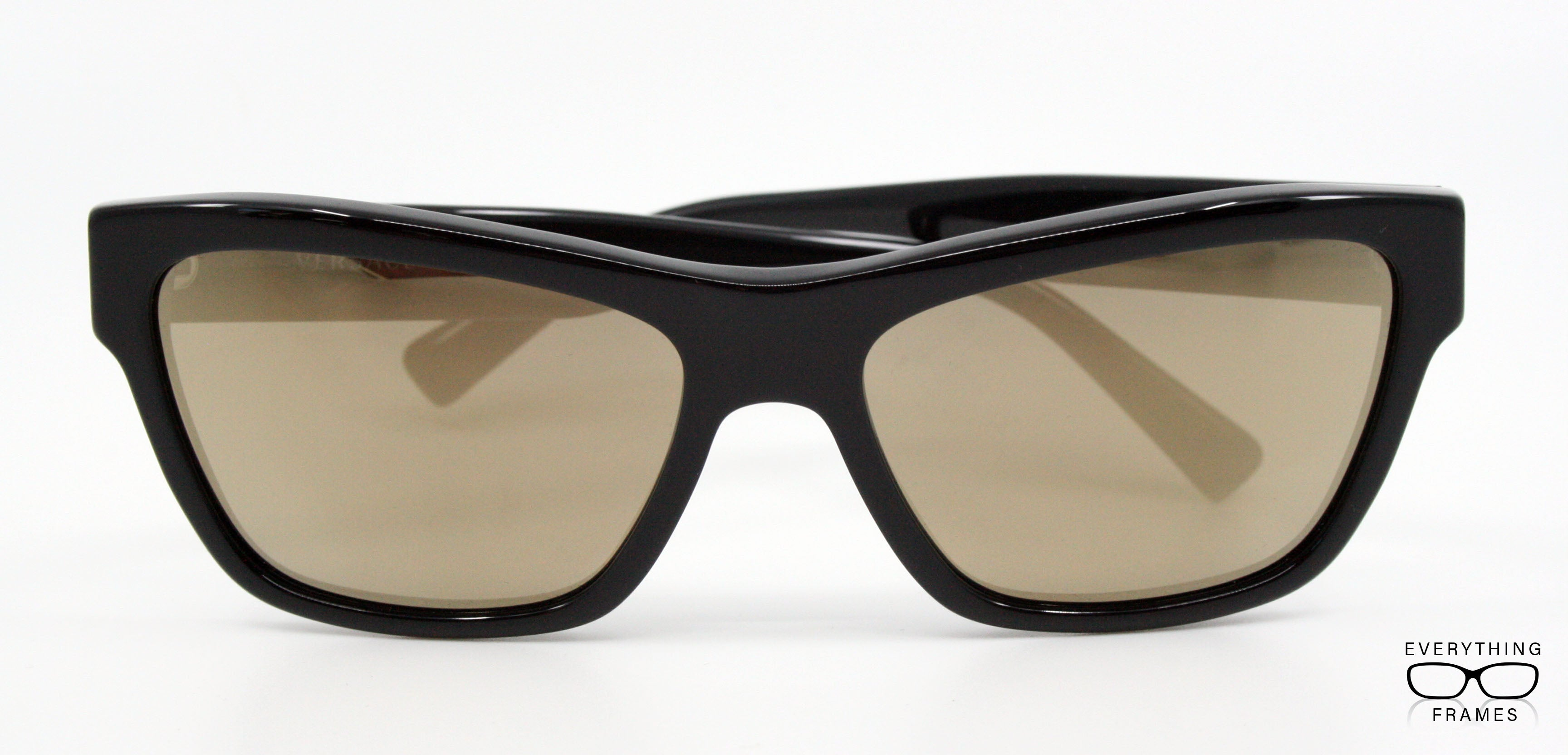 72554bb64c Versace Black with Light Brown Mirror Sunglasses for Women VE4344 GB1 1V  Front View