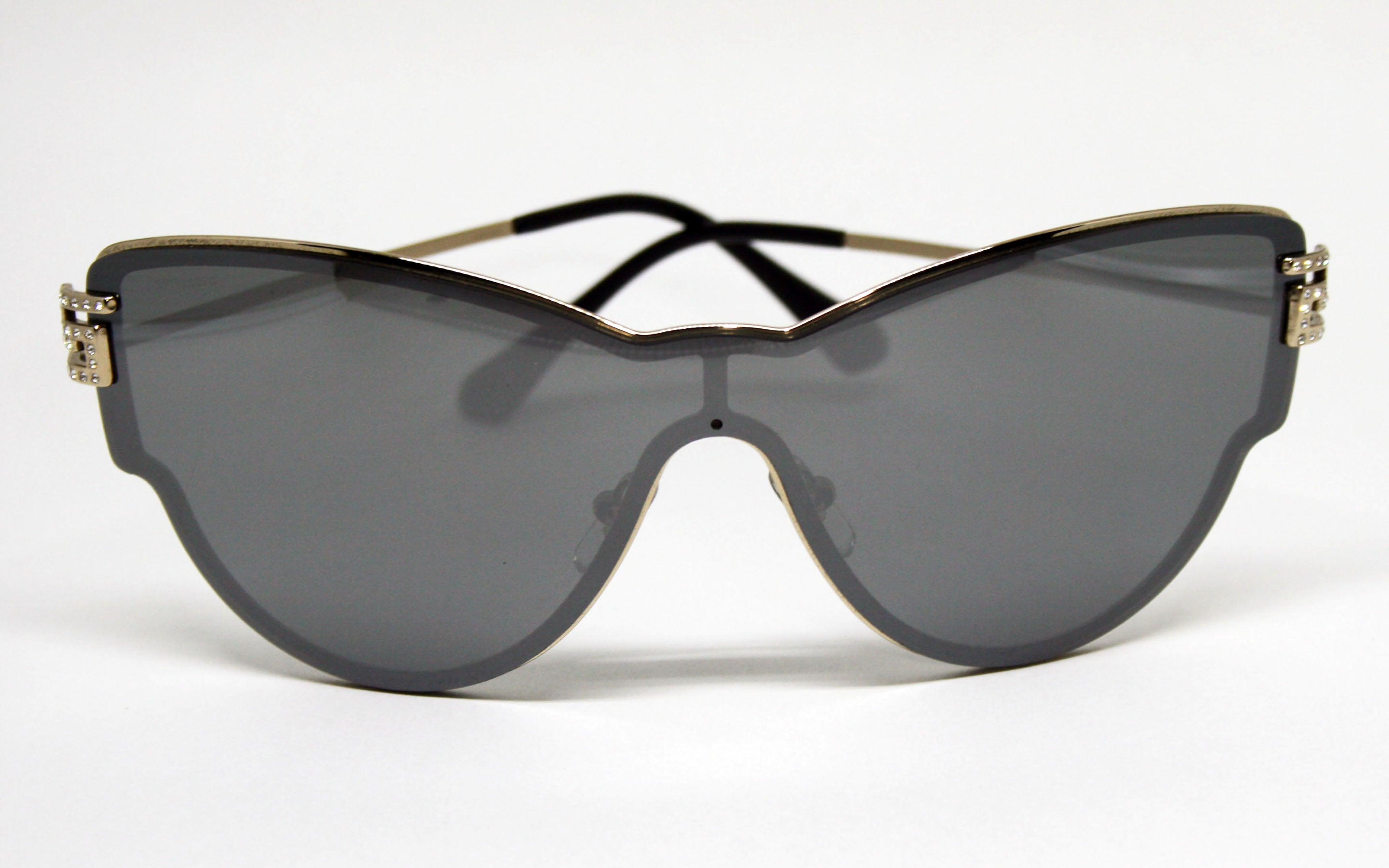 1a313aa2a1 Versace Pale Gold with Silver Mirror Sunglasses for Women VE2172B 12526G  Front View