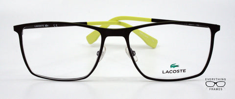 39495ca1aa6 Lacoste Matte Green Square Eyeglasses for Men L2223 315 Front View