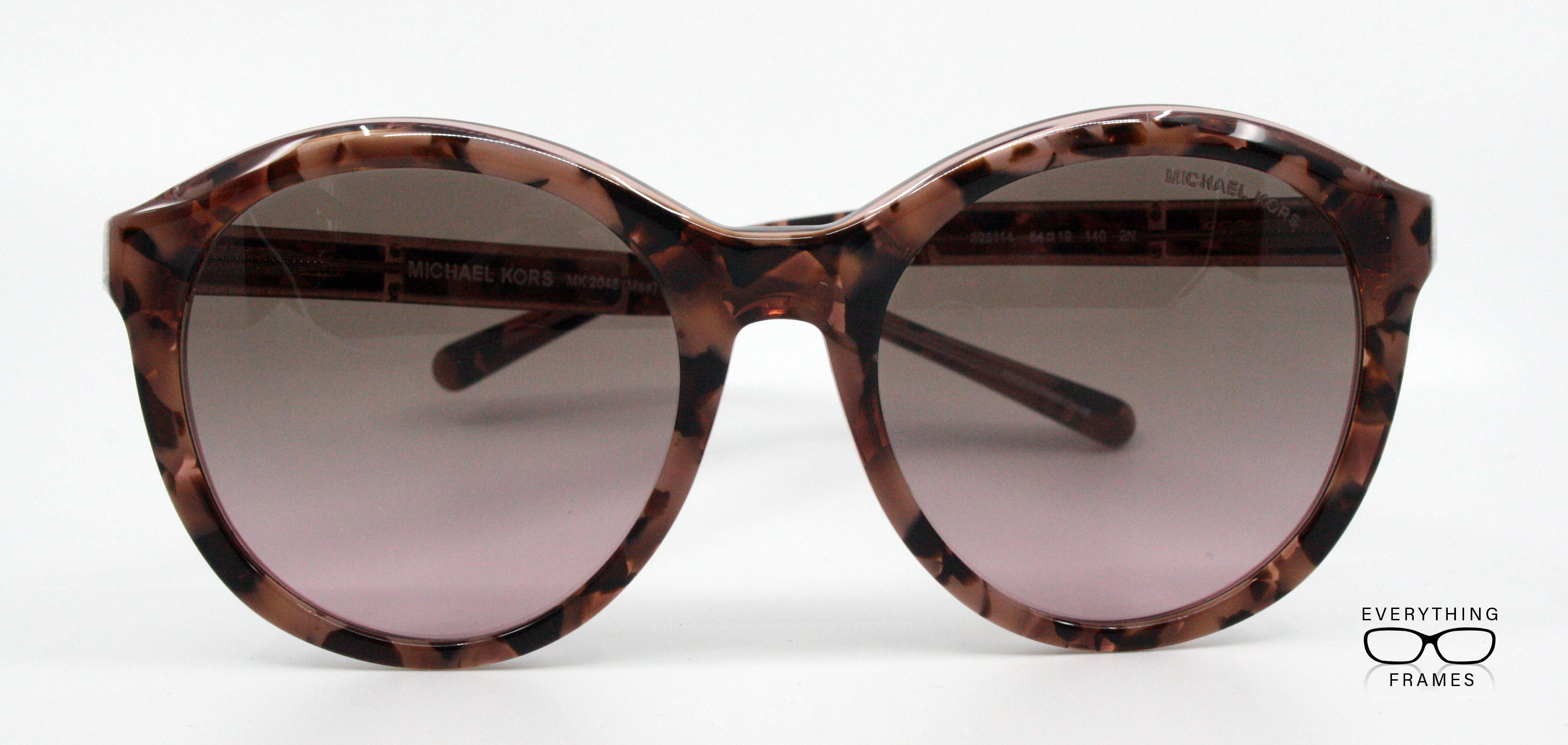 72a0946c89 Michael Kors Mae Pink Tortoise Sunglasses for Women MK2048 325114 Front View