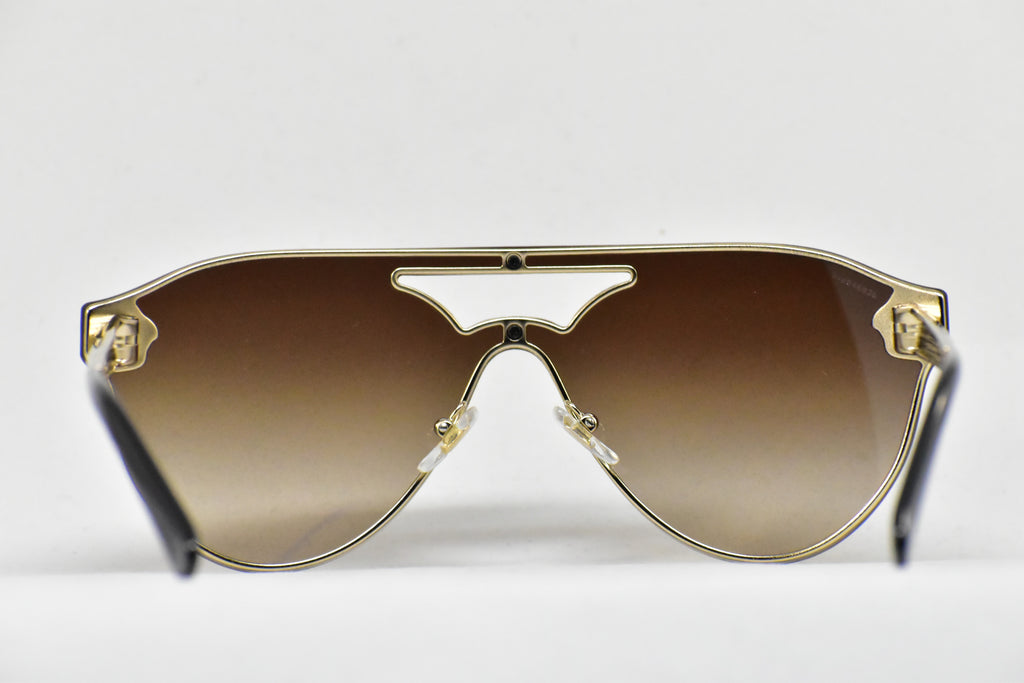 Versace Aviator Pale Gold Sunglasses for Women VE2161 1252/13 ...