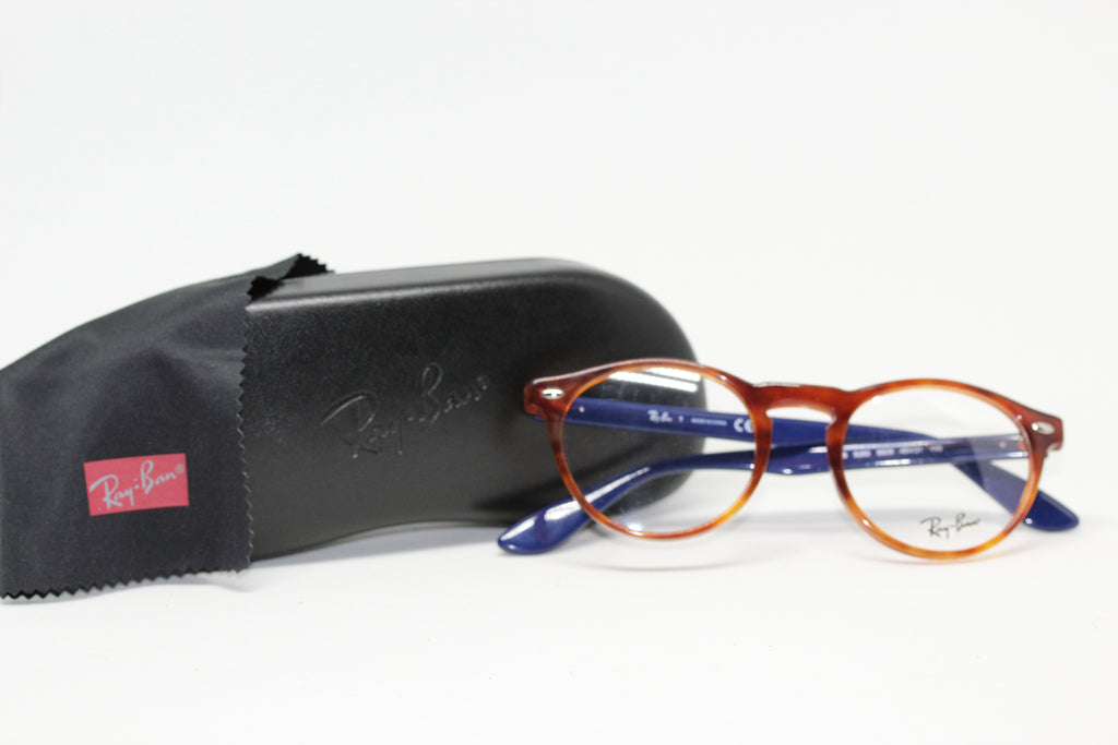 Ray Ban Tortoise & Blue Eyeglasses for Women RB5283 5609 ...