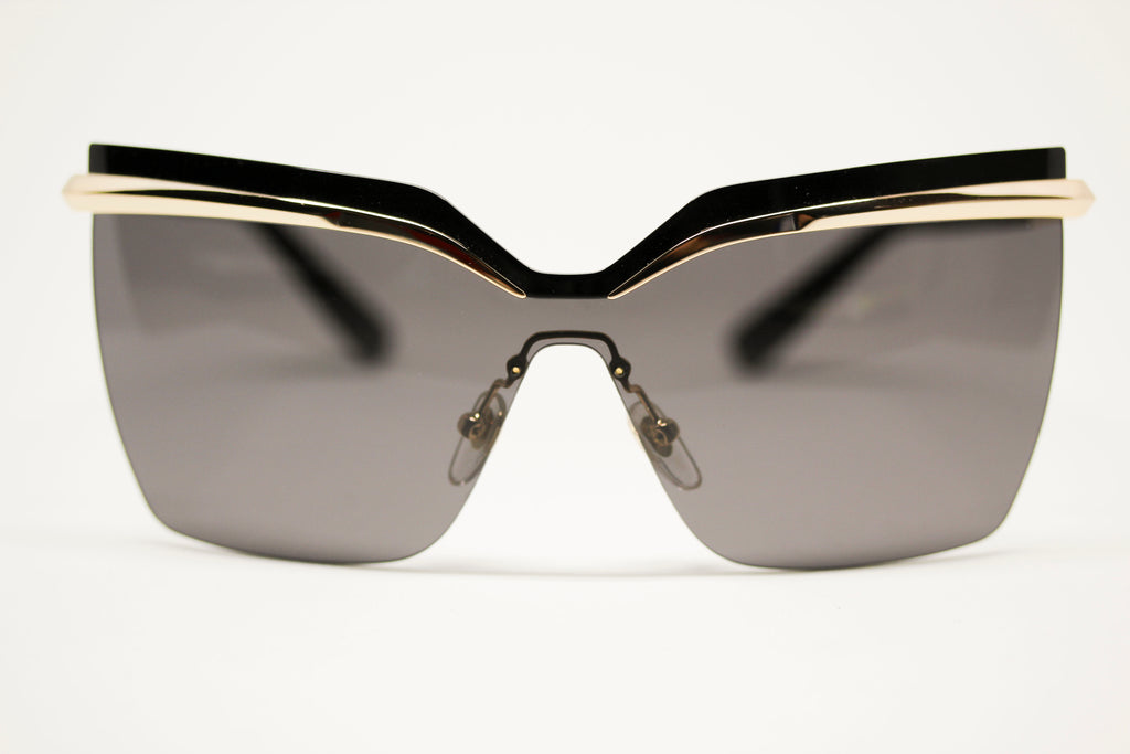 4d0a51dfdafb MCM Black and Gold Square Oversized Sunglasses for Women MCM106S 717