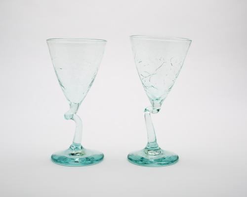 Twisted Wine Glass Set of Two
