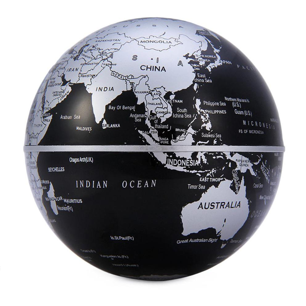 Anti gravity magnetic floating globe world map with led light gumiabroncs