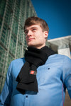 The Black Merino Knit Scarf