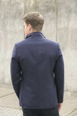The LIMITED Navy Cashmere Angora Sacket