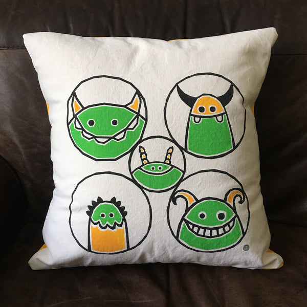 Perky Throw Pillows with Monsters