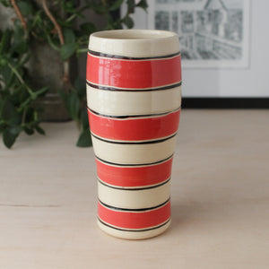 Tumbler with Rugby Stripes