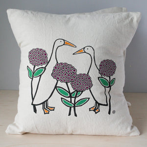 Perky Throw Pillow with Ducks