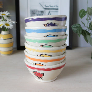 Dessert Bowl with Birds