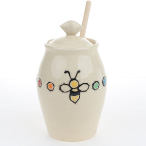 Honey Pot with Honey Bees