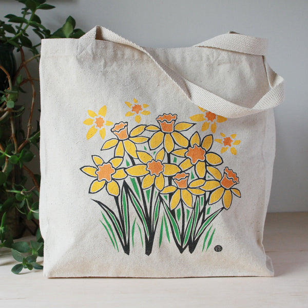 Tote Bag with Daffodils