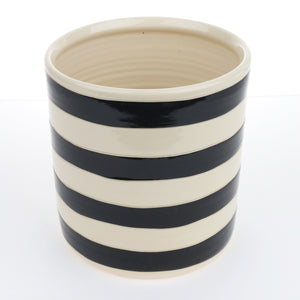 Utensil Jar with Rugby Stripes