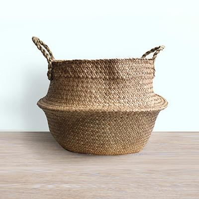 ... Straw Storage Basket   Flower Pot   Brown   Home Decor ...
