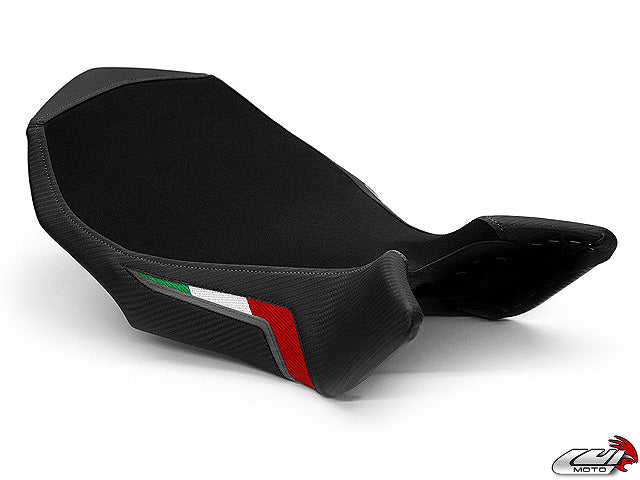 LuiMoto Team Italia Suede Seat Cover 10-11 MV Agusta Brutale 990R, 10-11 Brutale 1090R -  Gunmetal Stitching