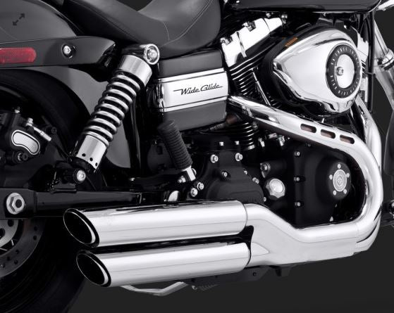 "Vance & Hines Twin Slash 3"" Round Slip-Ons Exhaust System '08-'14 Harley-Davidson Dyna FXDF Fat Bob, '10-'14 FXDWG Dyna Wide Glide [16845 / 46845]"