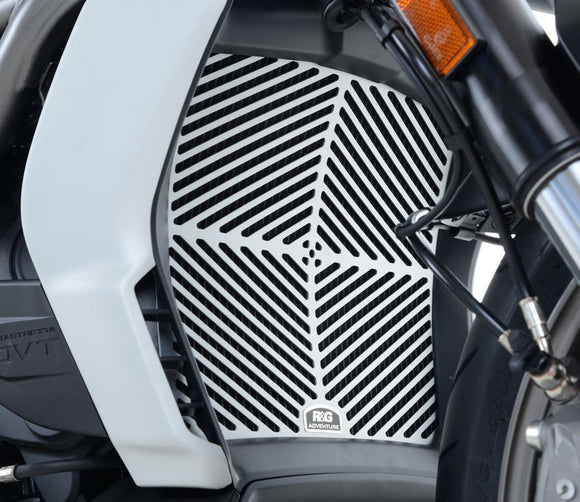 R&G Racing Brushed Aluminum Radiator Guard for 2016 Ducati XDiavel