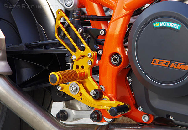 Sato Racing Adjustable Rearsets for 2012-2013 KTM 690 Duke
